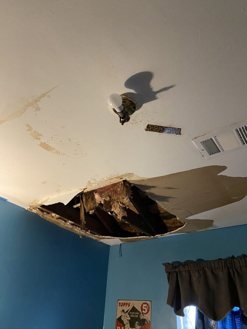 A ruined ceiling