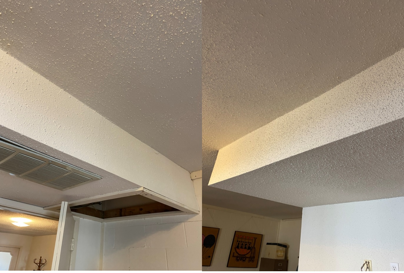 A remodeled ceiling